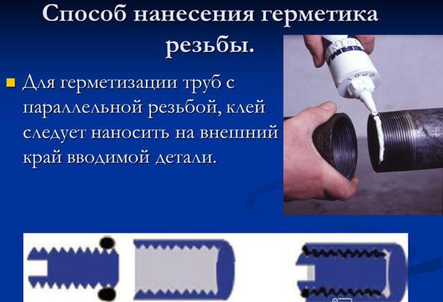 Герметизация резьбовых соединений систем отопления - pechiexpert
