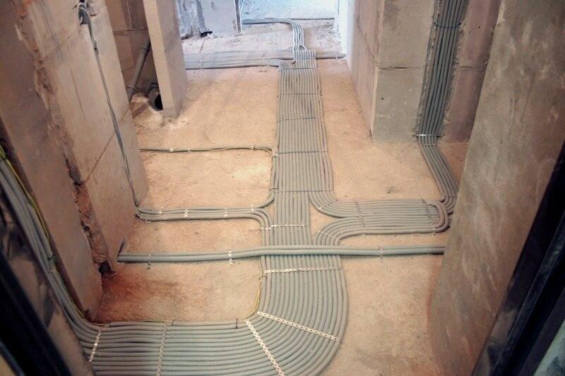 прокладка кабеля в полу