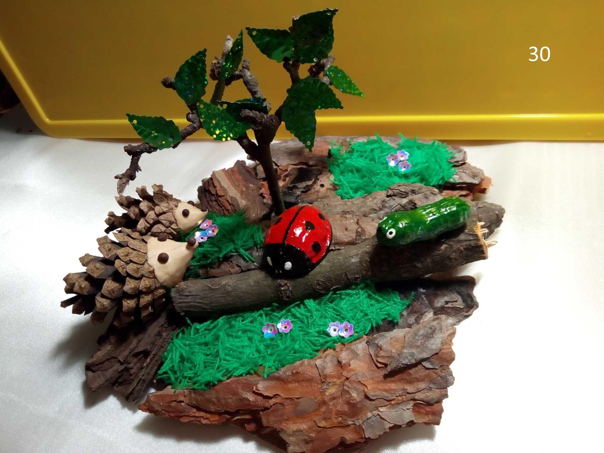 Идеи осенних поделок из природного материала в садик и школу | все о рукоделии
