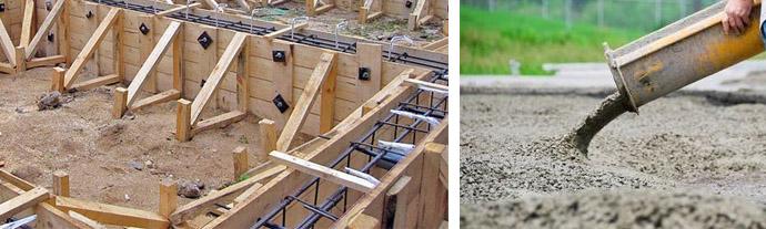 Стоимость заливки фундамента за куб вручную и миксером