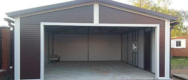 модульный гараж из сэндвич панелей цена