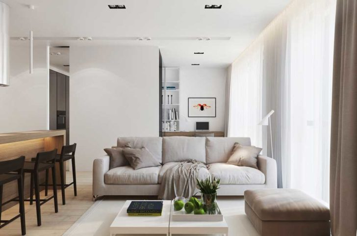 Дизайн двухкомнатной квартиры 50 кв. м.