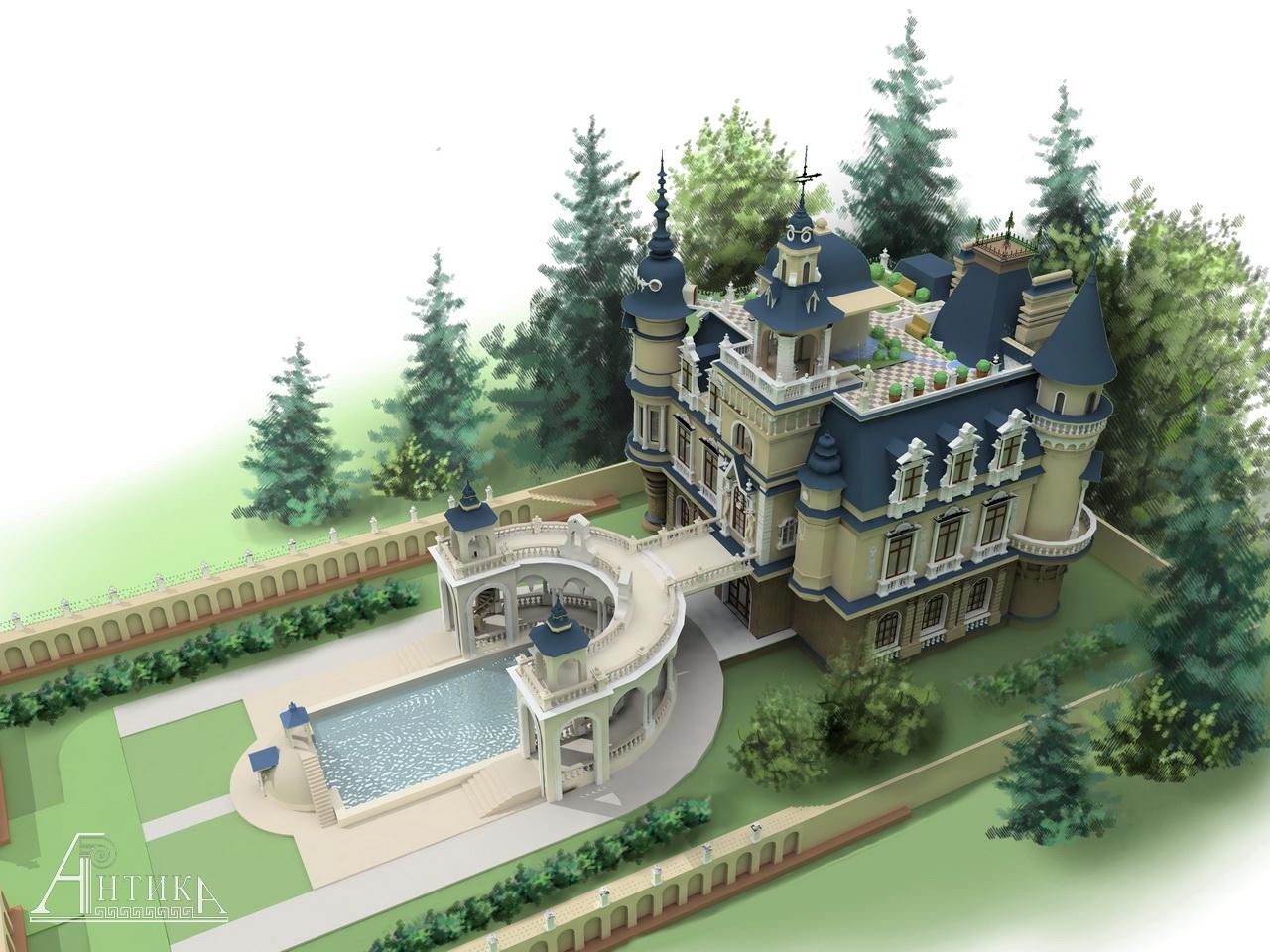 Королевское решение: проект дома-башни и 75 вариантов строительства современного замка