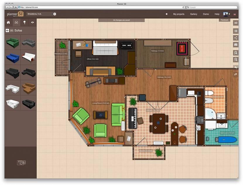 план комнаты