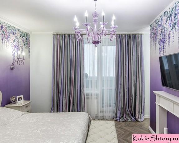 Фиолетовые обои: для стен в интерьере, фото цветов темной комнаты, рисунки и узоры, ультрафиолетовые
