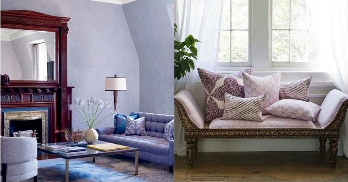 Лавандовый цвет в интерьере – правила сочетания - каталог статей на сайте - домстрой