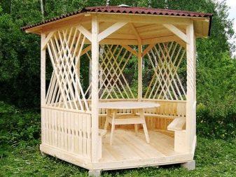 Создание деревянных решеток для украшения простых беседок