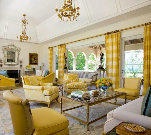 Желтые шторы: в гостиную, в спальню, на кухню и в зал