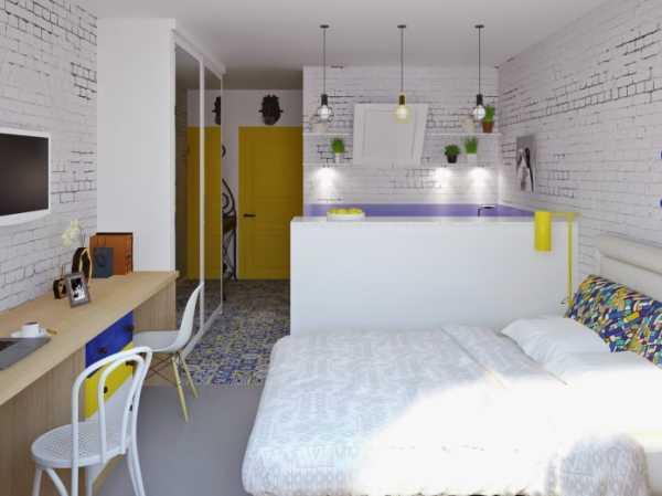 Дизайн-проект квартиры-студии +80 фото примеров интерьера