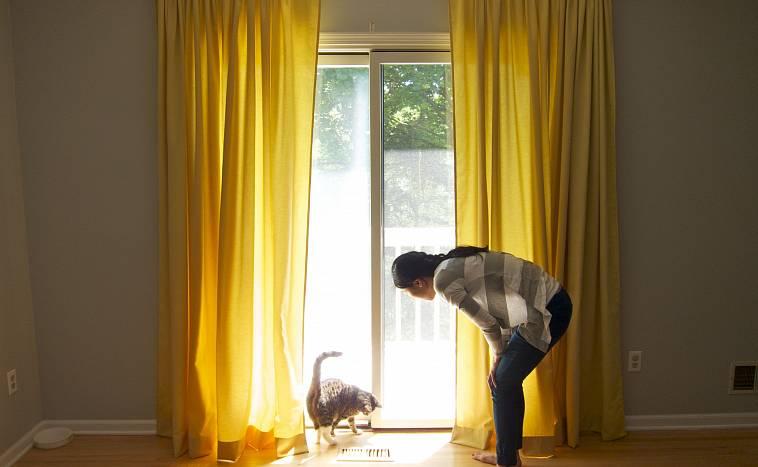 желтые шторы фото