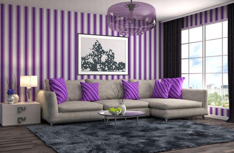 Фиолетовый цвет в интерьере и его сочетания с другими цветами - 25 фото