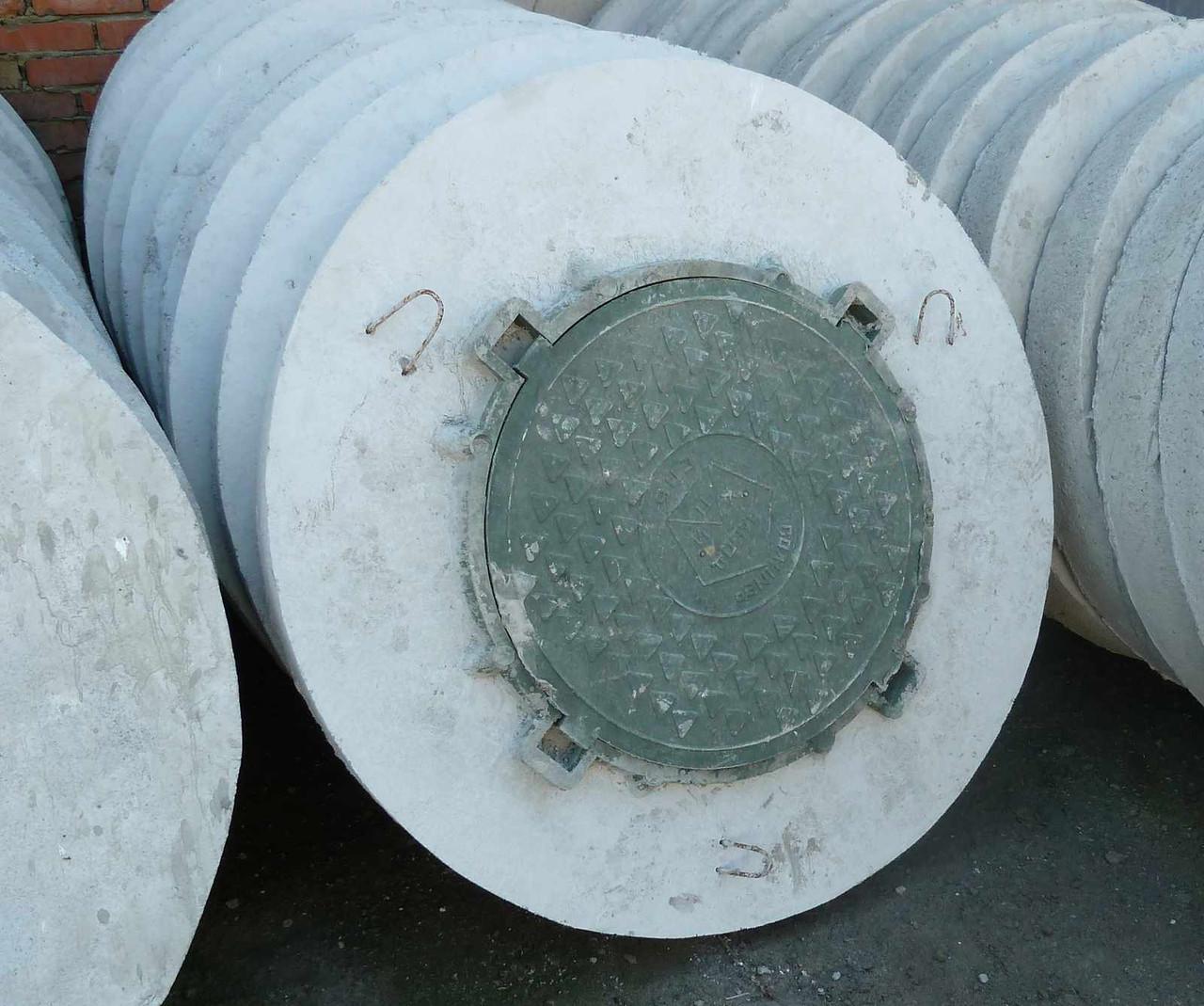 бетонная крышка на колодец с люком