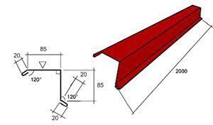 Назначение и установка торцевой планки для металлочерепицы  