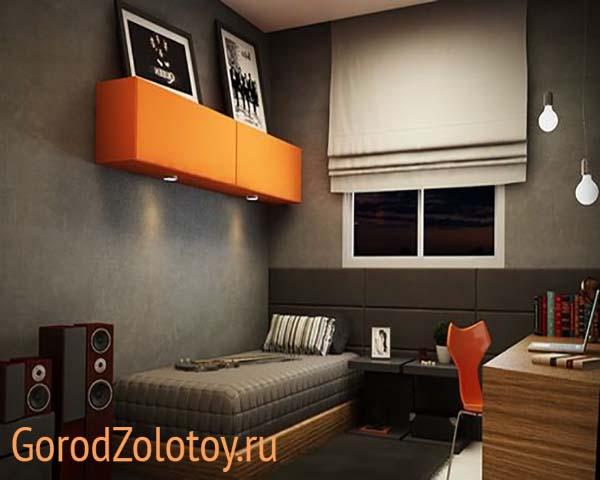 Дизайн комнаты для молодого человека - фото интерьера