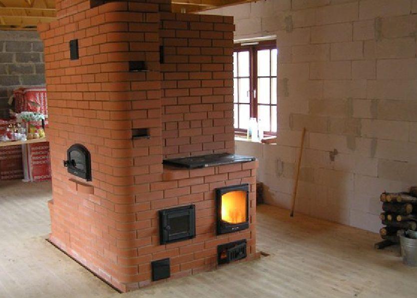 Проекты домов с печным отоплением (схемы и чертежи): планировка деревянного и кирпичного строения с фото