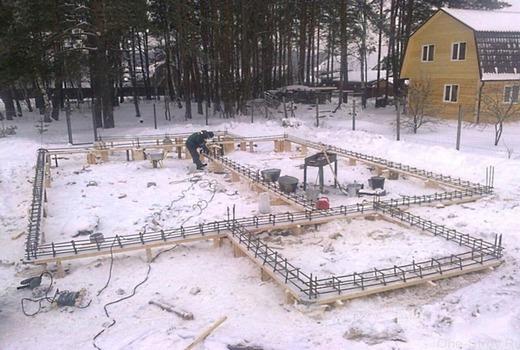 Как оставить мелкозаглубленный фундамент в зиму?