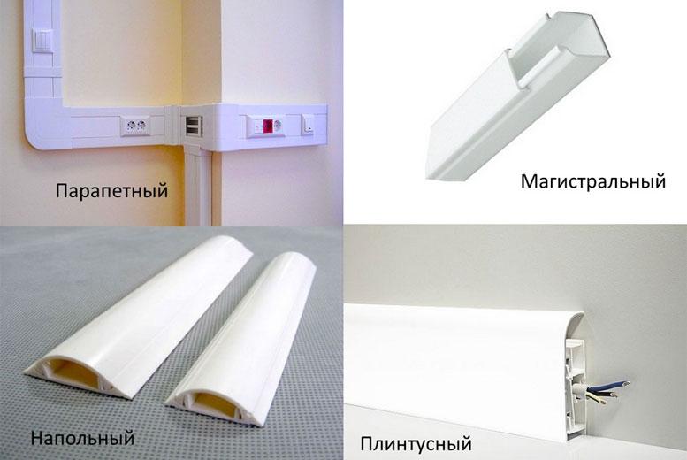 Виды и монтаж кабель каналов для прокладки открытой электропроводки