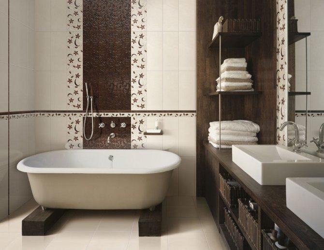 Керамическая плитка для ванной: дизайн, фото, преимущества, недостатки