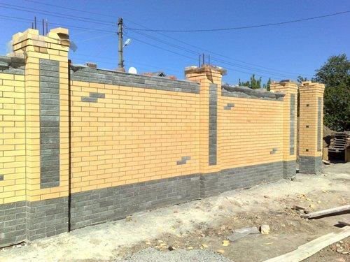 Забор из кирпича своими руками: фото, видео инструкция забор из кирпича своими руками: фото, видео инструкция