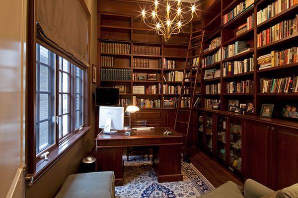 Интерьер домашней библиотеки +50 фото идей дизайна