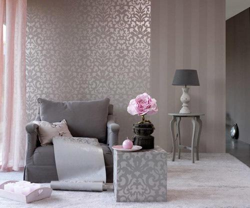Обои розового цвета в интерьере, сочетание с другими цветами, 28 фото