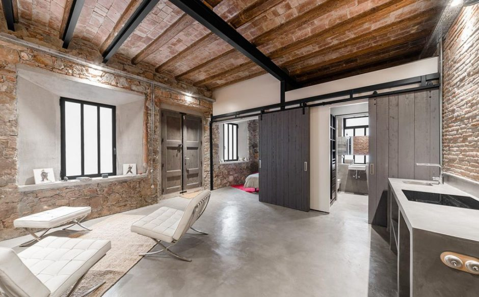 Потолок в стиле «лофт» (41 фото)