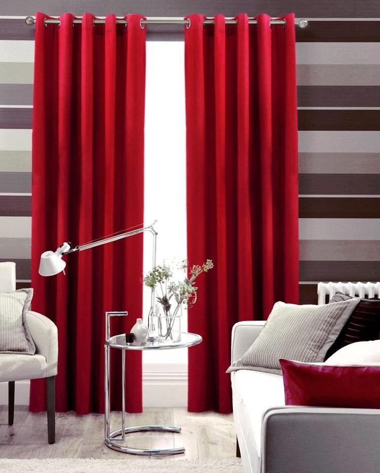 Красные шторы - 100 фото лучших вариантов современного дизайна