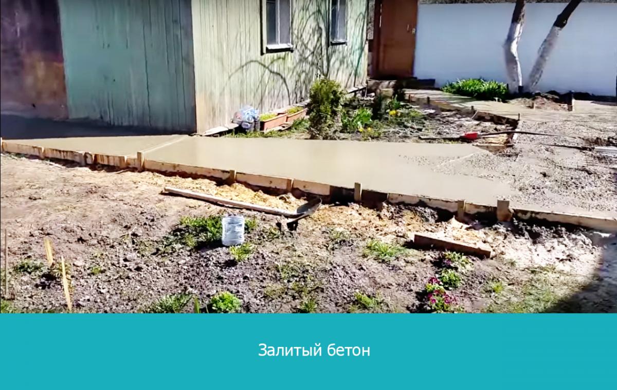 Как правильно залить бетоном двор – подробная инструкция с фото