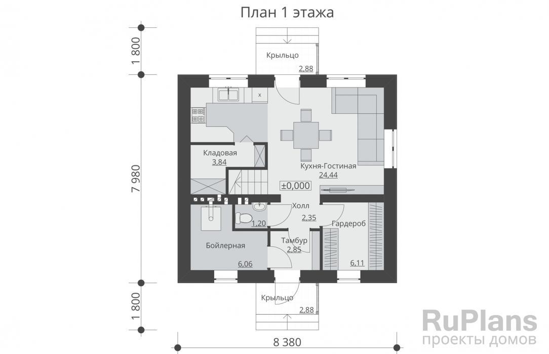Дом 7 на 8 - 110 фото проектов. современный дизайн и удачная планировка