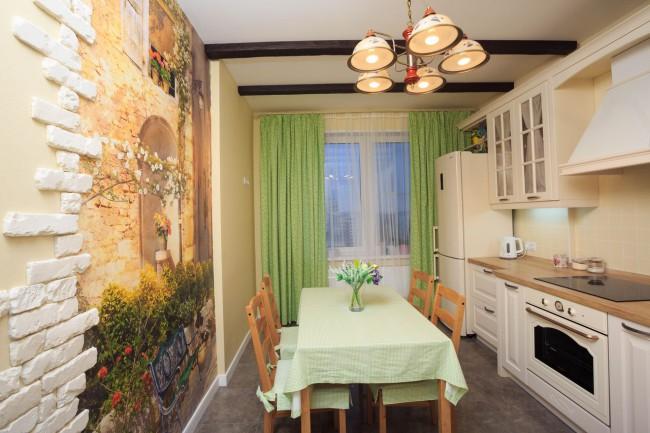 тюлевые шторы для кухни