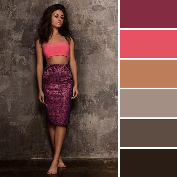 Коралловый цвет в одежде, с чем его правильно сочетать