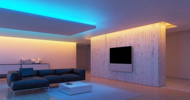 светодиодные полосы на потолке