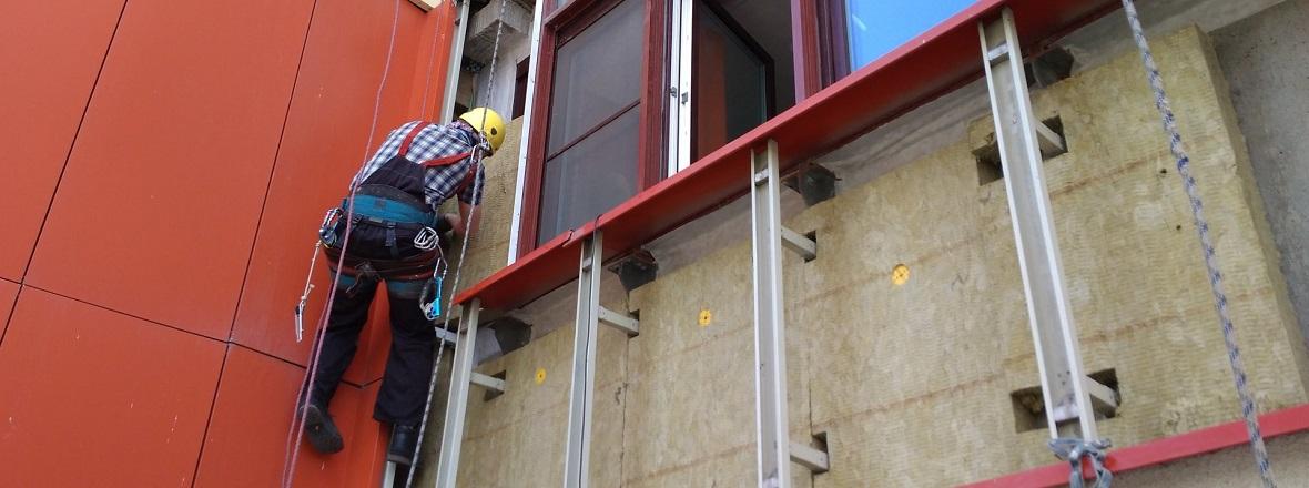 Монтаж вентилируемых фасадов: технология устройство и как сделать монтаж своими руками