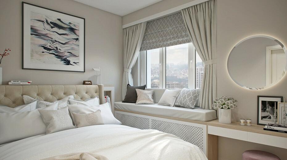 Спальня в светлых тонах +75 фото идей интерьера