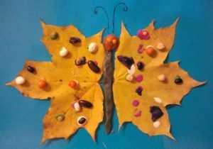 детские поделки из листьев на тему осень