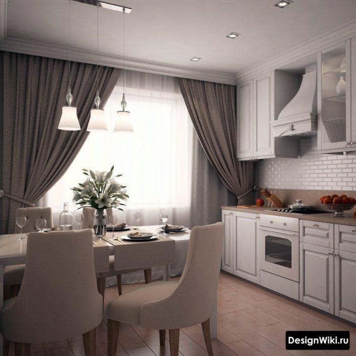 Шторы для кухни: 70 фото реальных интерьеров