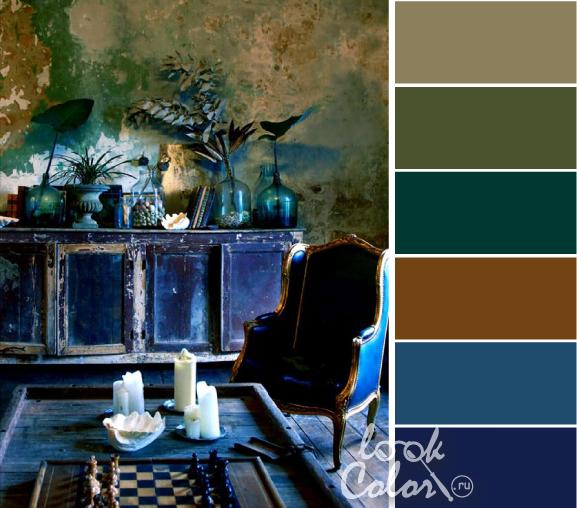 Цвет индиго, его сочетание в одежде и интерьере. таблицы, фото   lookcolor