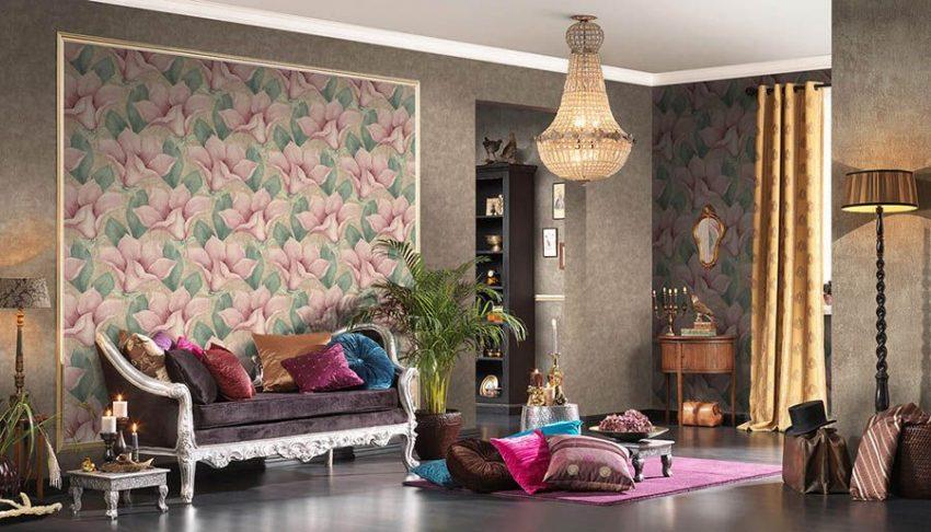 Обои для гостиной: 60 фото в интерьере, комбинирование, цвет и виды обоев