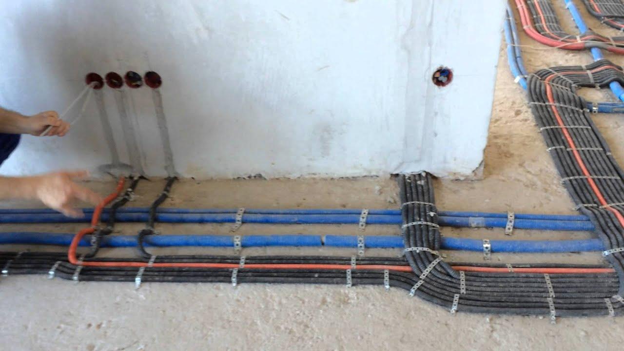 прокладка проводов в полу