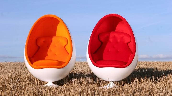 Кресла в виде яйца: виды, размеры и примеры в интерьере