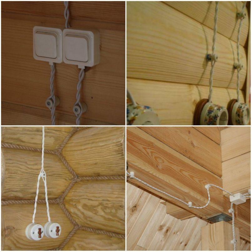 Ретропроводка (наружная) в деревянном доме своими руками: монтаж под старину