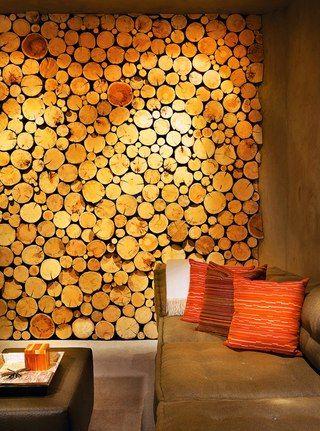Спилы дерева для декора стен и пола