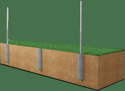 Установка металлических столбов для забора