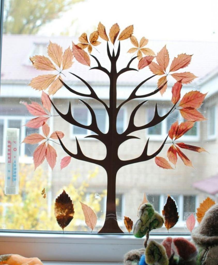 Осенние листья — трафареты, шаблоны для вырезания