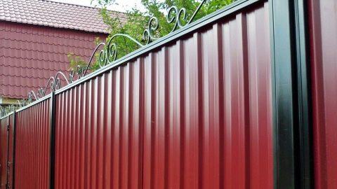 Забор из профнастила своими руками - пошаговая инструкция с фото