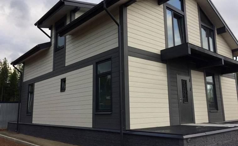 фото домов обшитых фасадными панелями