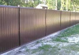 профнастил забор