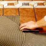 Материалы для укладки плитки: клей и затирка