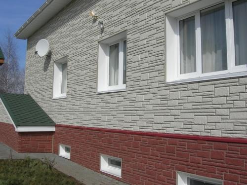 цокольный сайдинг под камень фото домов