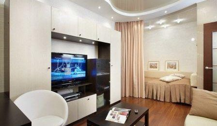 Совмещение спальни и гостиной
